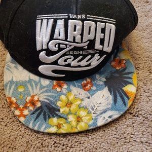 Van's Warped Tour 2014 flatback hat